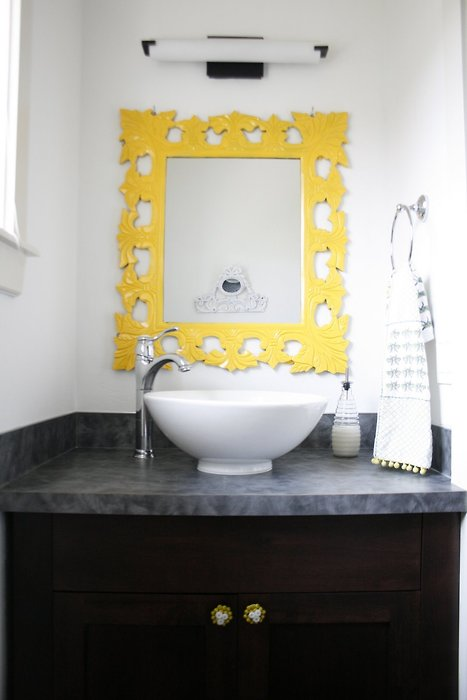 yellow and gray bathroom spark