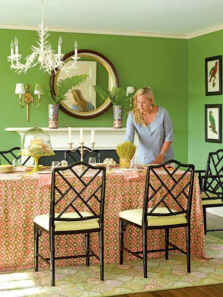 green dining room | spark!