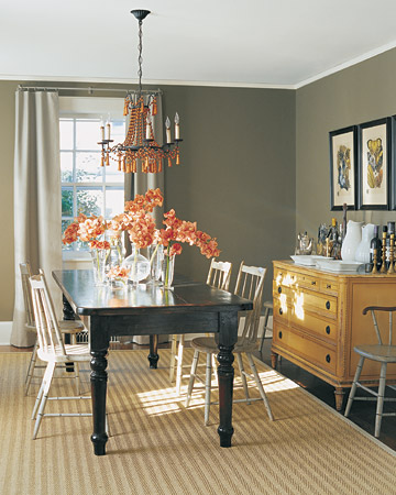 Gray dining room spark for Dining room grey walls