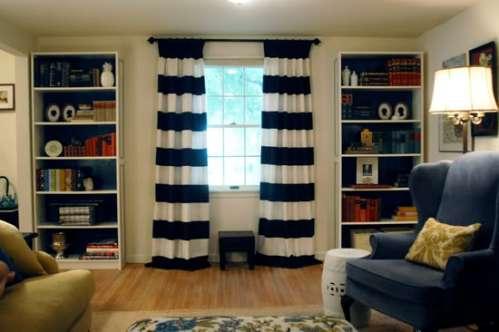 Going Sideways Horizontal Stripe Curtains Spark
