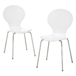 {Modern Stacking Chairs, 2 Pack, Target, $59.99 For 2 (in Stores), Less  Than $30 Per Chair!}