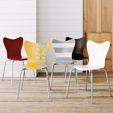 High Quality {Scoop Back Chairs, West Elm, $99 For Designed Chairs, $79 For White Chairs}