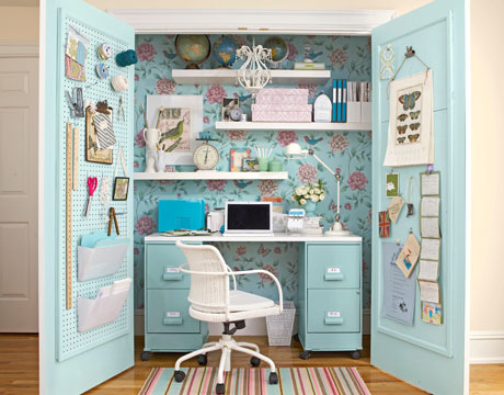 Desk Built Into Closet closets as rooms | spark!