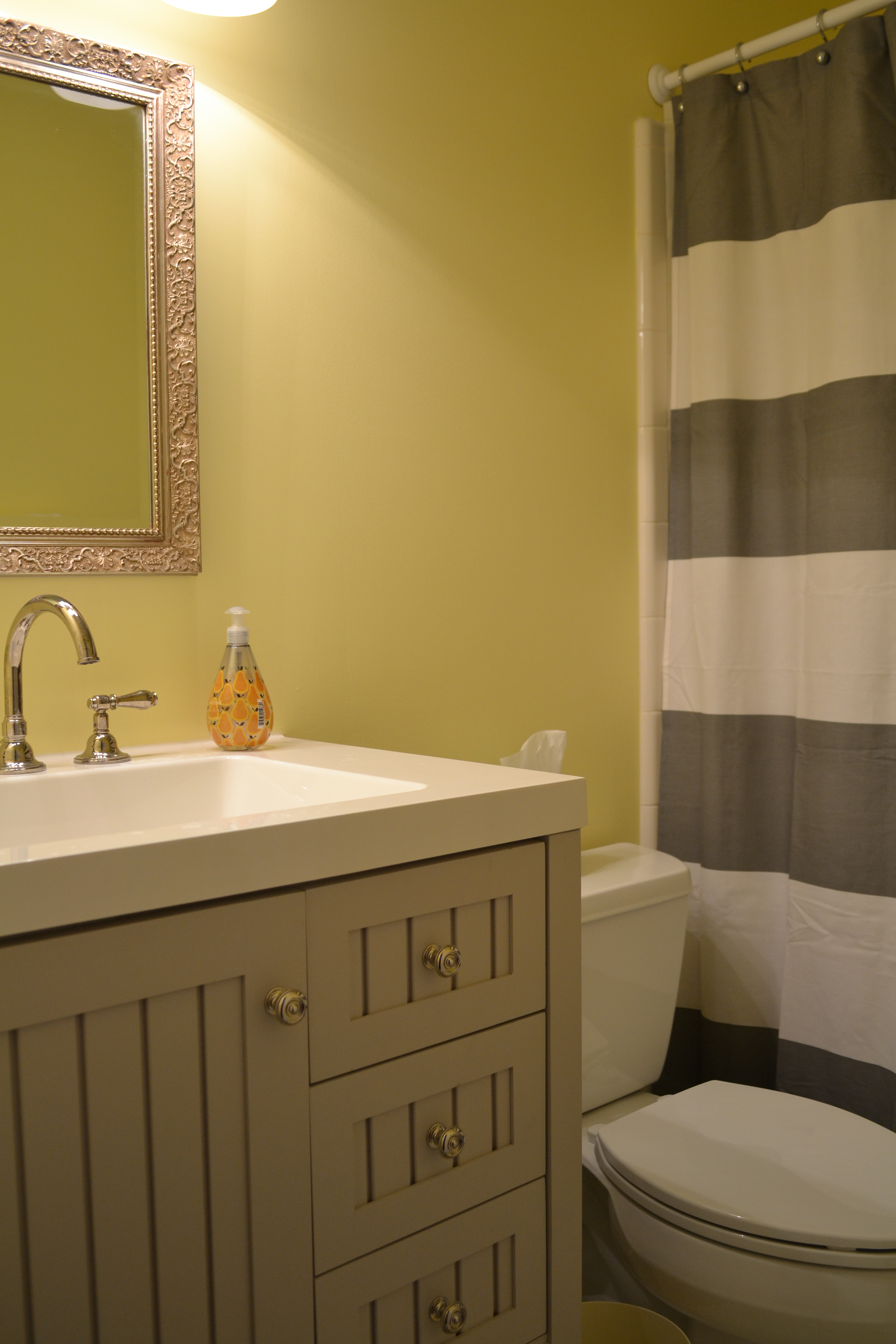Bathroom Yellow And Gray yellow and gray bathroom | spark!